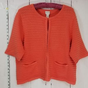 CHICOS knit 3/4 sleeve cardigan size 3